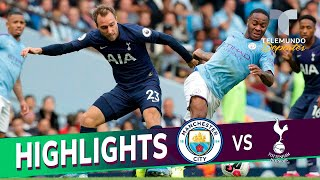 Manchester City vs. Tottenham: 2-2 Goals & Highlights | Premier League | Telemundo Deportes