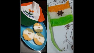 Tricolour Recipies - Tricolour Idli & Flag Recipes   Independence day Special's..