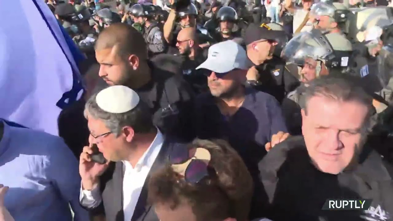 Tear Gas flies as protesters dispersed from Damascus Gate over 'Flag March' plans