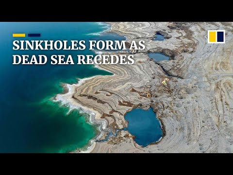 Thousands of sinkholes emerge as the Dead Sea continues to recede