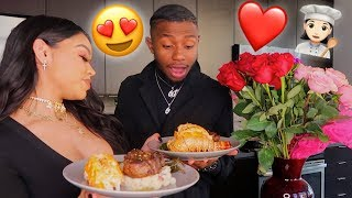 I COOKED A ROMANTIC DINNER FOR MY BOYFRIEND ON VALENTINE'S DAY!