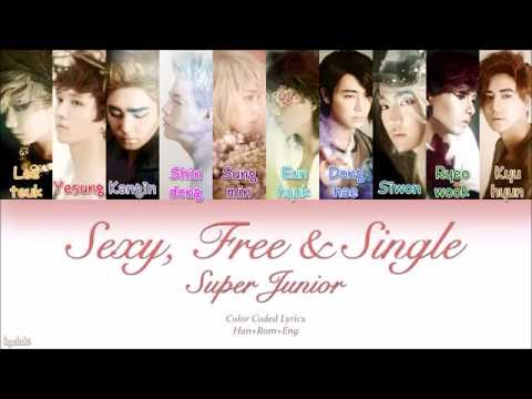 Super Junior (슈퍼주니어) – Sexy, Free & Single (Color Coded Lyrics) [Han/Rom/Eng]