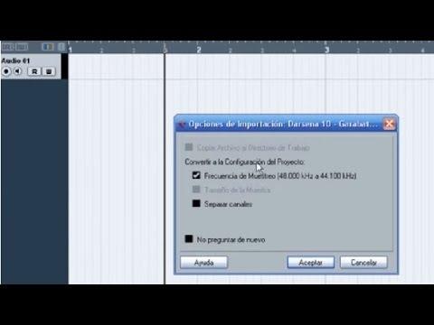1er Tutorial de Cubase en español, Configuración y pistas audio. Cursos de Produccion Musical