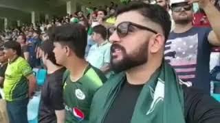 Pakistani at Ind vs Pak match   India vs Pakistan   patistani fan singing Jana gana mana