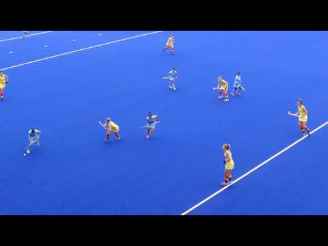 India v Australia final womens hockey 4th Quarter. Melbourne international festival of hockey 2016