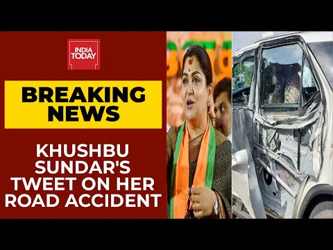 Khushbu Sundar meets with accident as truck rams into her car