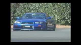 Tsuchiya Keiichi with R34 GT-R V-Spec on Touge...