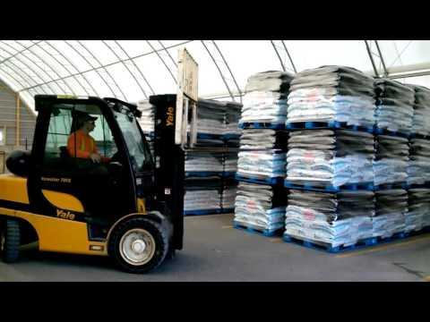 72' x 130' Atlas Building Series for Packaged Palletized Salt Storage
