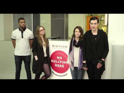 Video: RioCan unveils 30-second PSA featuring the cast of Degrassi to launch Red Dot Safe Spot--declaring all RioCan malls across Canada 'bully-free' zones. Canadians are encouraged to join the conversation and take their stand against bullying with #RedDotSafeSpot.