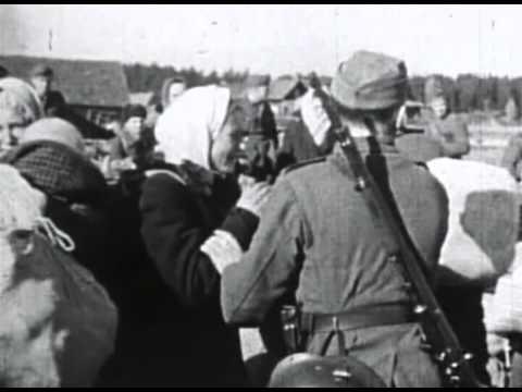 СС Каратели РОА угоняют русских женщин в Германию Nazi SS