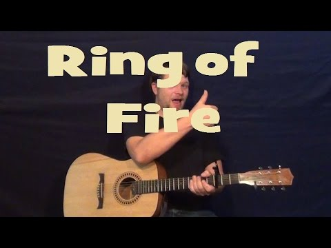 ring of fire johnny cash easy strum guitar lesson how to play g c d 3 chord song youtube. Black Bedroom Furniture Sets. Home Design Ideas