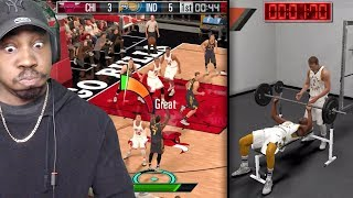 NBA 2K MOBILE GAMEPLAY! BENCH PRESS DRILL, SEASON MODE, MY TEAM PACK OPENING, JORDAN & MORE!