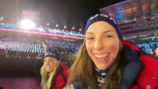 Hilary Knight BTS at the 2018 Winter Olympics Opening Ceremony in PyeongChang