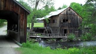 Sawing Lumber With Water Powered Sash Sawmill at Leonard's Mills