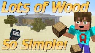 How to make a Wood Farm in Minecraft | Simple Minecraft Wood Farm | Observer block farm tutorial