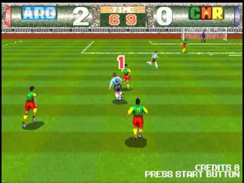 Argentina - Japan 2-0 ! (TECMO WORLD CUP 98 PC) Best Game Ever