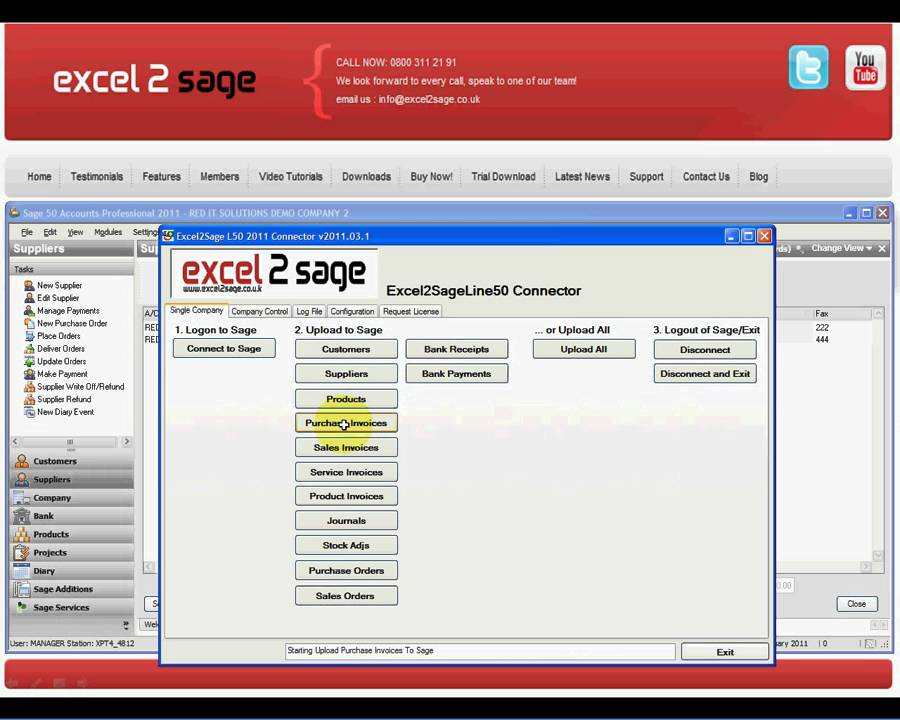 excel2sage how to import purchase invoice batches into sage 50 from excel youtube
