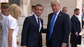 Trump meets French President Macron -