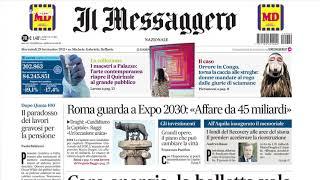 Rassegna stampa, i giornali del 29 settembre