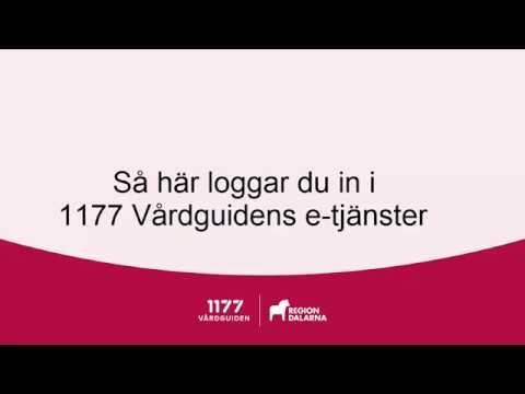 Logga in  i 1177 Vårdguiden e-tjänster