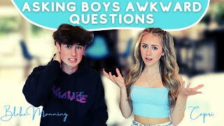 Asking Boys Questions Girls are too Afraid to Ask *awkward* | Blake Manning ft. Capri Everitt