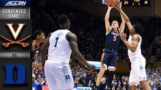 Virginia vs. Duke Condensed Game | 2018-19 ACC Basketball