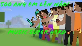 [Phim Minecraft Animation] 8 người hạ Gục Herobrine (Nhạc  Super Hero)🎶 cực hay!