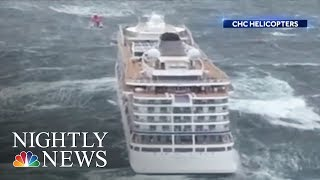 Stranded Cruise Ship Towed Safely To Norway Port After Dramatic Rescues | NBC Nightly News