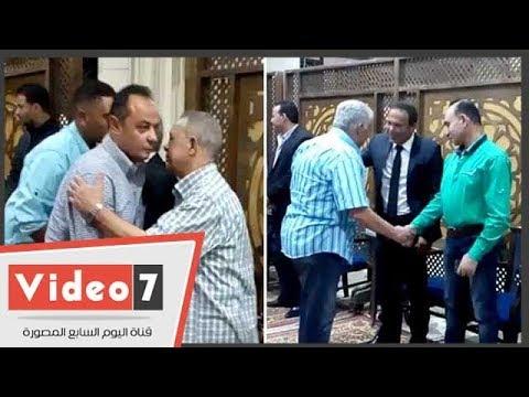 نجوم الرياضة فى عزاء شقيقة محمود أبو رجيلة نجم الزمالك السابق