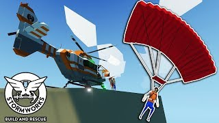 We Attempted Some Extreme Base Jumping and it Ended in Disaster! - Stormworks Multiplayer
