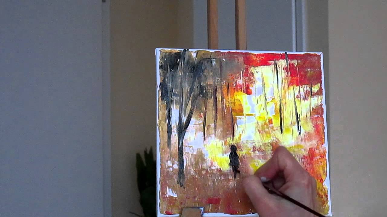 Tanja Bell Abstract Painting Trees Part 2 Tutorial Palette