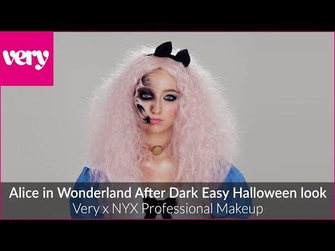 very.co.uk & Very Discount Code video: Alice in Wonderland After Dark | Halloween Makeup | Very x NYX Professional Makeup