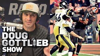 Doug Gottlieb Reacts To Myles Garrett Striking Mason Rudolph With a Helmet