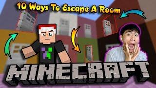 GIẢI MÃ 10 CĂN PHÒNG BÍ ẨN - Minecraft 10 Ways To Escape A Room