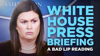 """WHITE HOUSE PRESS BRIEFING"" — A Bad Lip Reading"