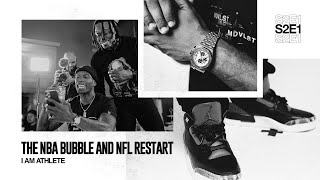 The NBA bubble & NFL restart | I AM ATHLETE with Brandon Marshall, Channing Crowder & More