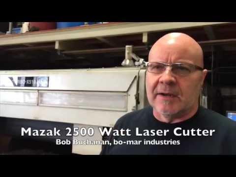 Mazak 2500 Watt Laser Jet Cutter