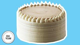 Classic Vanilla Birthday Cake with Caramel Pastry Cream | Oh Yum With Anna Olson
