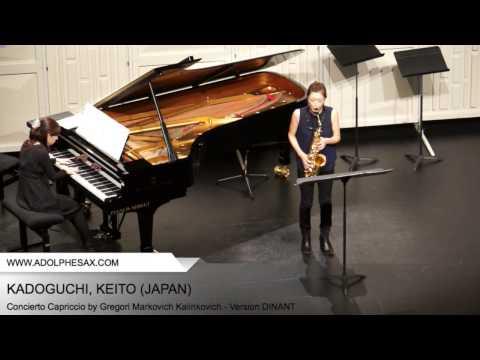 Dinant 2014 - Kadoguchi, Keito - Concerto Capriccio by Gregori Markovich Kalinkovich