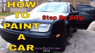 How To Paint A Car At Home / $100 Paint By Urekem / Flat - Matte - Satin Black Paint Job