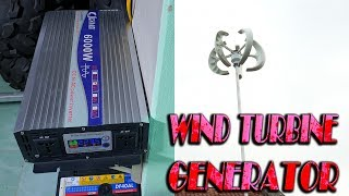 Wind Turbine Generator and 6000W Inverter For My Workshop