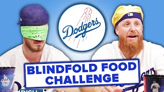 Dodgers Players Compete In A Gross Blindfold Taste Test