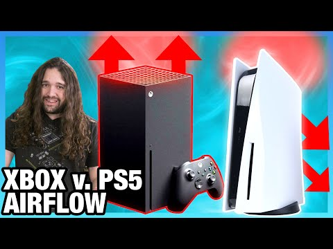 PS5 vs. Xbox Series X Airflow Testing: Cooling Design Efficiency & Flow Paths (Schlieren)