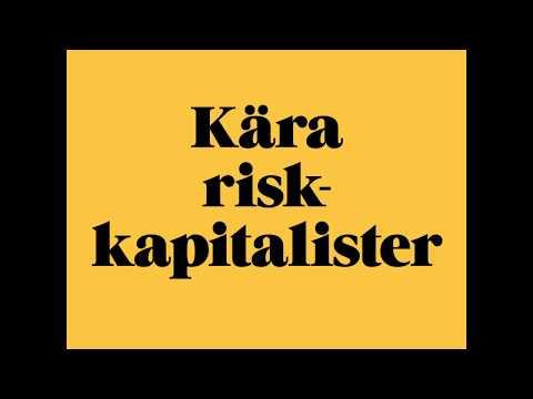 Öppet brev till Sveriges Riskkapitalister