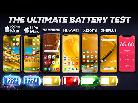 iPhone 12 Pro Max vs Samsung Note 20 Ultra / Huawei / Xiaomi / OnePlus Battery Life DRAIN Test.