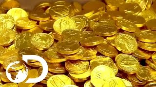 How Chocolate Coins Are Made   How It's Made