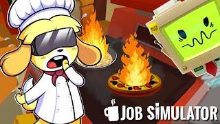 Isabelle Burns the WHOLE KITCHEN DOWN (Job Simulator VR)