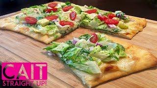 Caesar Salad Pizza Recipe | Cait Straight Up