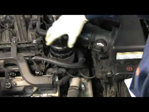 FRAM Cartridge Oil Filter change on Hyundai/Kia V6 - YouTube