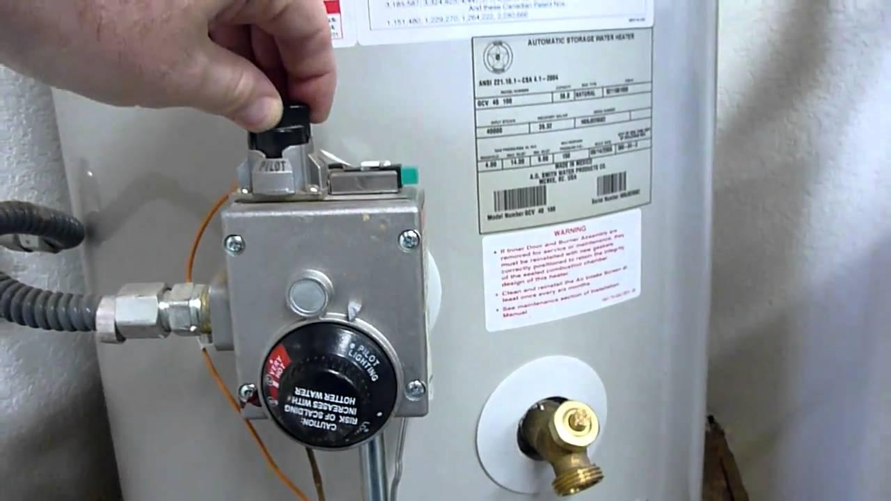 Water Heater Shutdown Relight And Maintenance Youtube